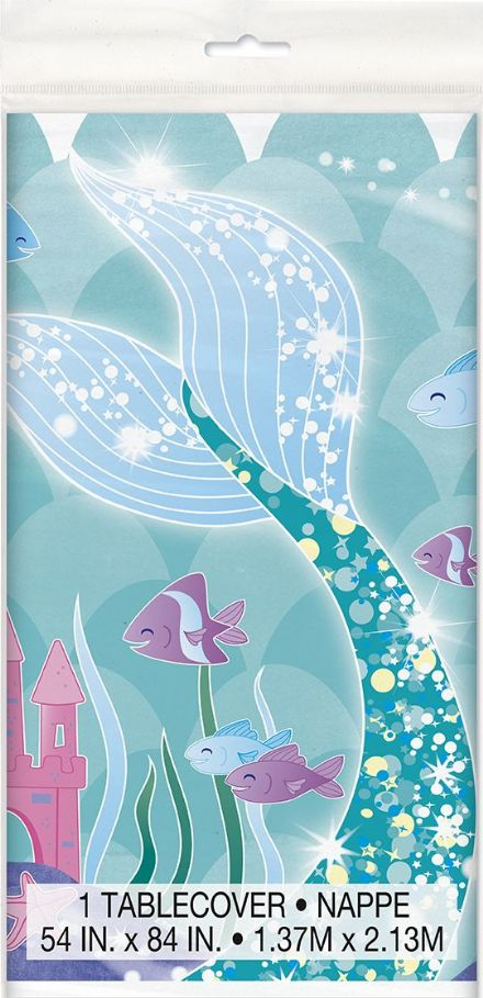 1 Mermaid Plastic Tablecover